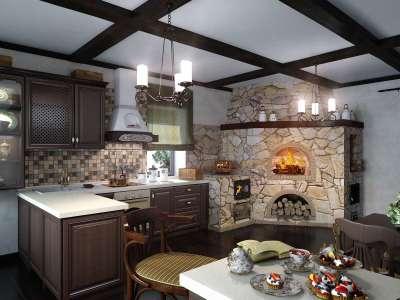 Дизайн дома с печкой