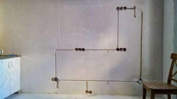 штробление стен на кухне