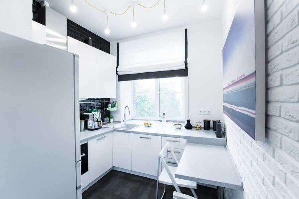 минимализм на маленькой кухне