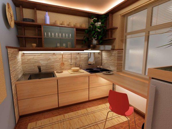 ремонт кухни шесть метров