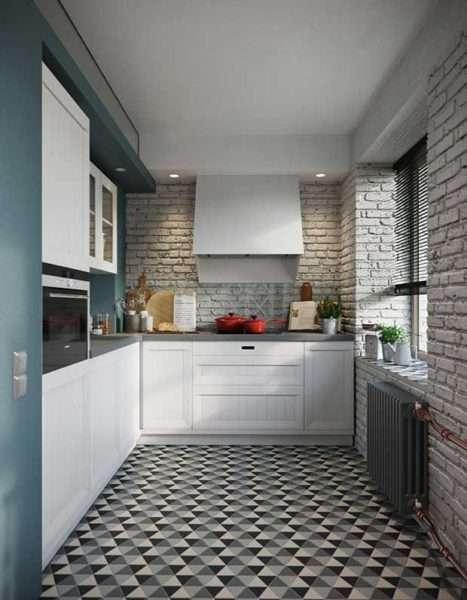 ремонт кухни шесть метров со свободным пространством