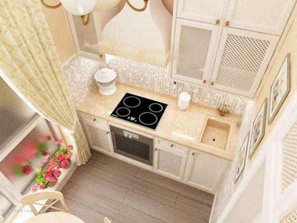 кухня в светлых тонах после ремонта