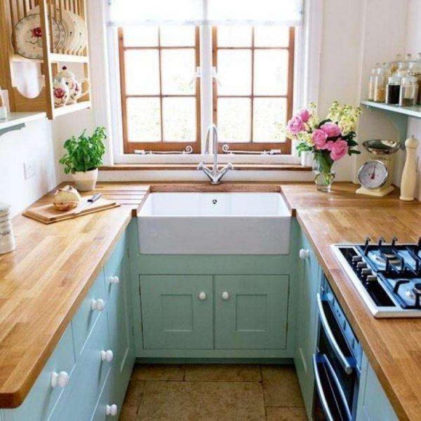 ремонт П-образной кухни шесть метров
