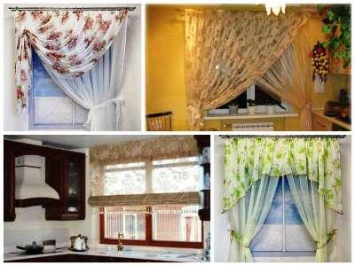 Дизайн штор в маленькой кухне