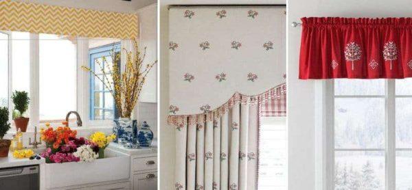 шторы с ламбрекеном своими руками на кухню