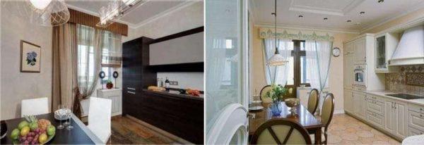 шторы с ламбрекеном на кухню своими руками