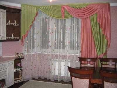 шторы со сложным ламбрекеном своими руками на кухню