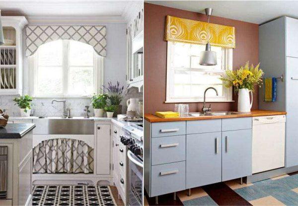 шторы на кухню с жёстким ламбрекеном своими руками