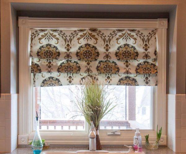 римские шторы на кухню своими руками