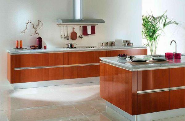 нижние шкафы на современной кухне