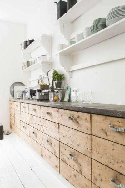 Интерьер кухни в современном стиле лофт