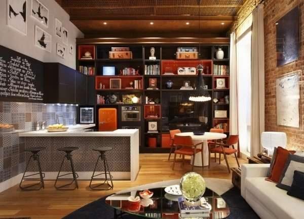 мебель кухни в стиле лофт