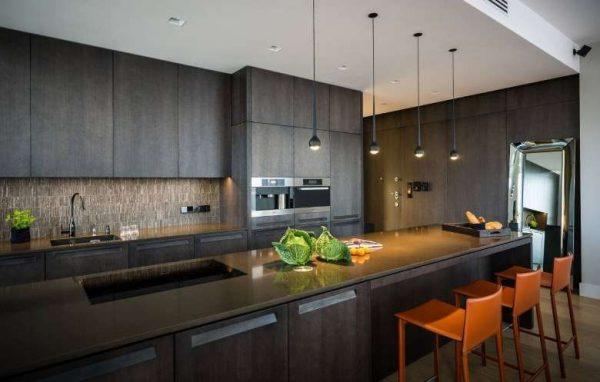 освещение на кухне в стиле хай тек