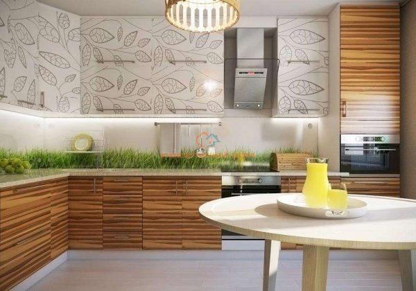 Интерьер кухни в эко стиле