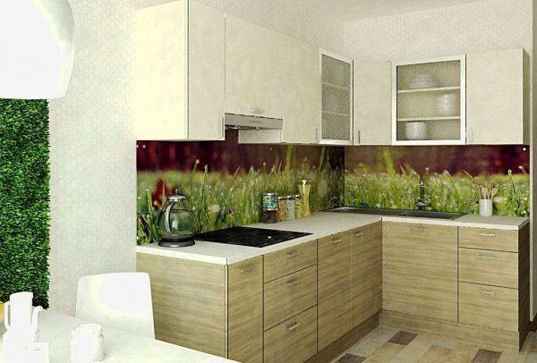 бамбуковая кухня в эко стиле