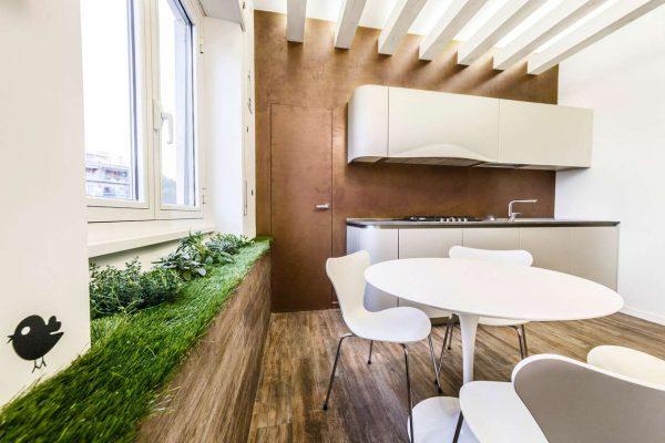 трава на кухне в эко стиле