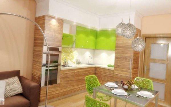 светильники на кухне в эко стиле