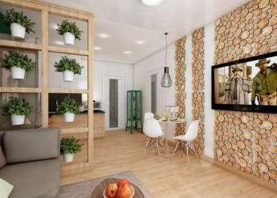 цветы добавляют уюта на кухне в эко стиле