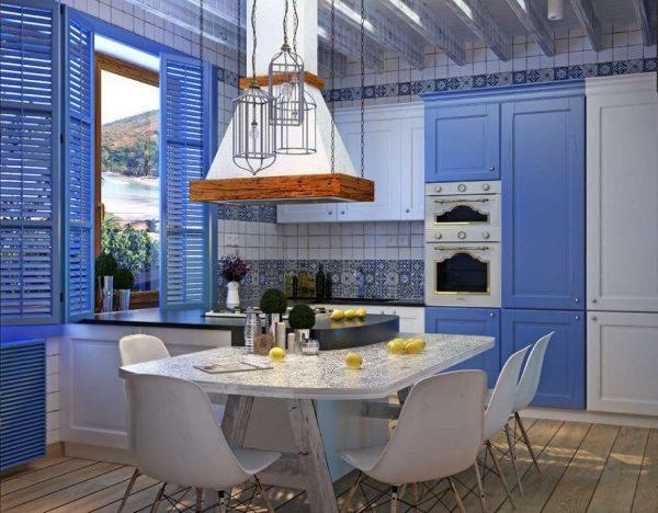 Средиземноморский стиль в интерьере кухни
