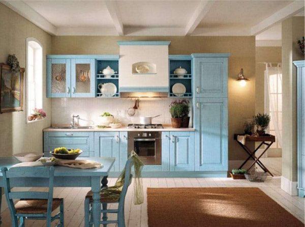 средиземноморский стиль в оформлении фартука кухни