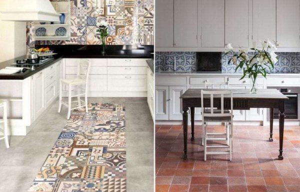 кафель на полу кухни в средиземноморском стиле