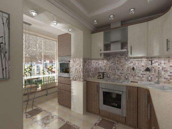 угловая кухня эконом класса с мдф панелями