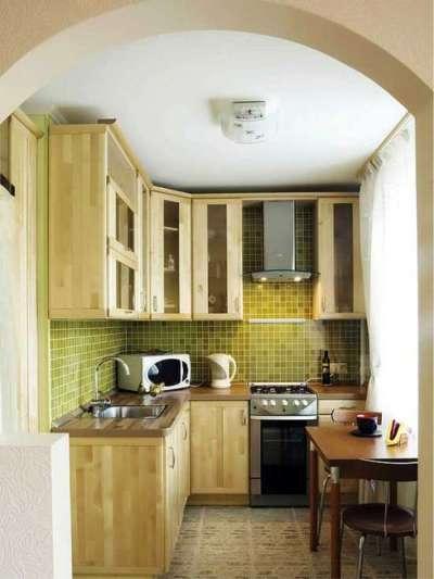 мдф на угловой кухне для малогабаритной кухни