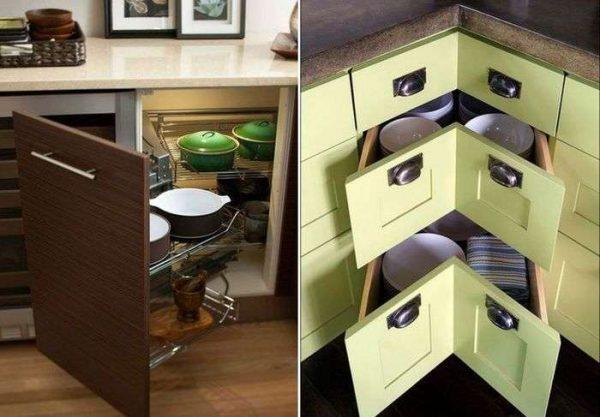 механизмы шкафов для угловых кухонь