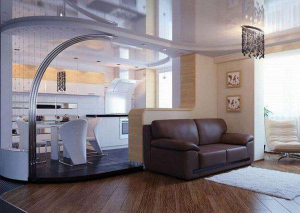 подиум на кухне гостиной