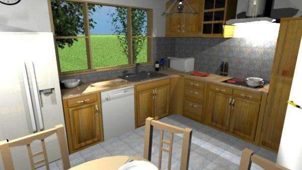 визуализация кухни из мебельных щитов