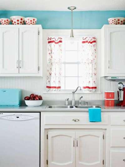 кухня крашенная из мебельных щитов своими руками