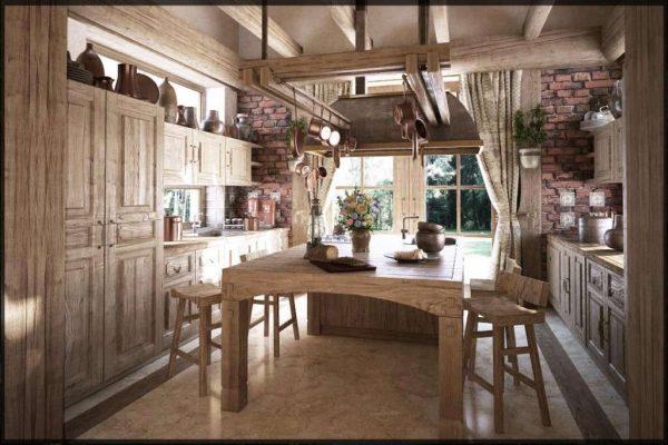 кухня с параллельными шкафами из мебельных щитов своими руками