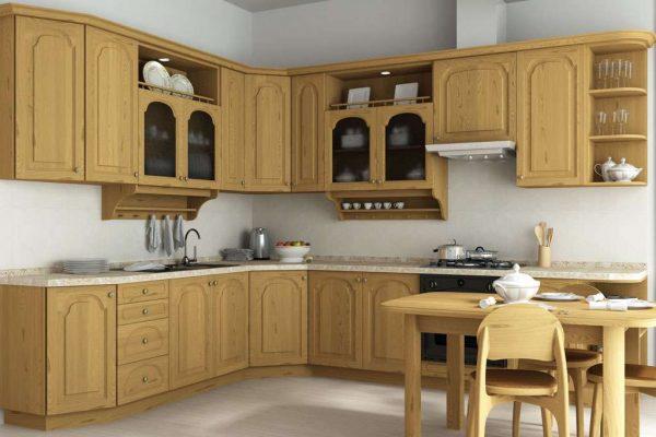 кухня своими руками из мебельных щитов со столом