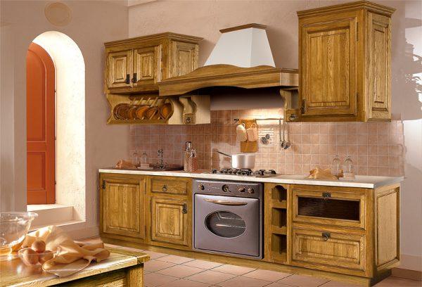 линейная кухня своими руками из мебельных щитов