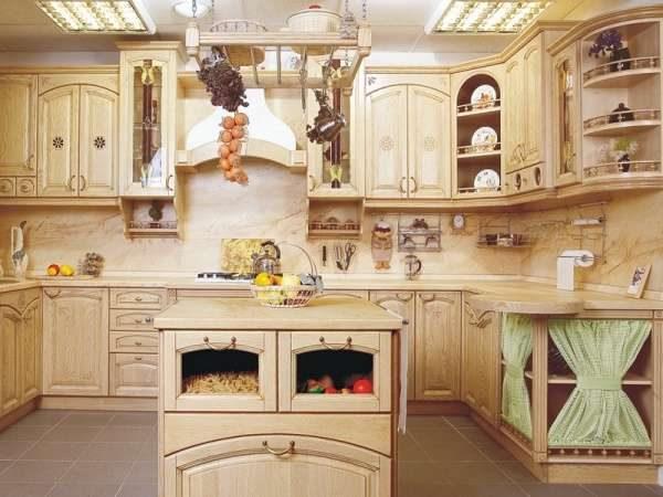 кухня своими руками из мебельных щитов с островом