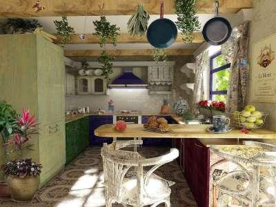 Интерьер кухни в стиле прованс своими руками фото
