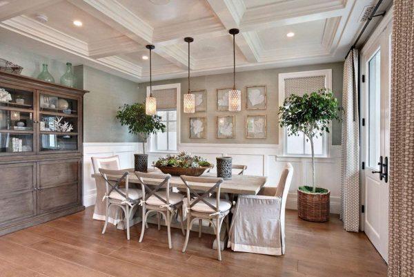 скандинавский стиль в интерьере кухни в деревянном доме