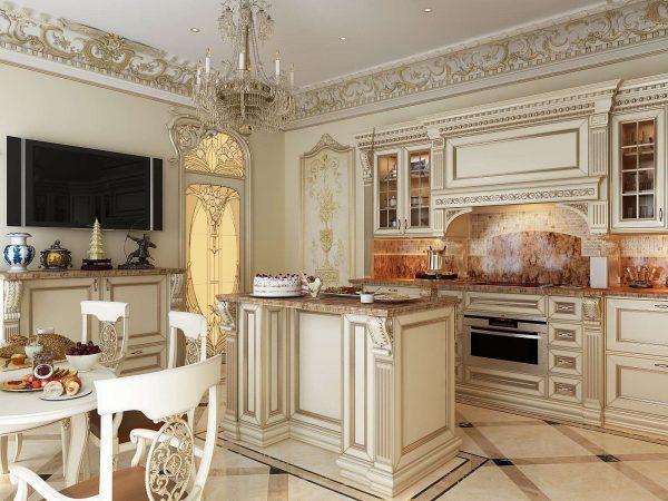 стены кухни в классическом стиле
