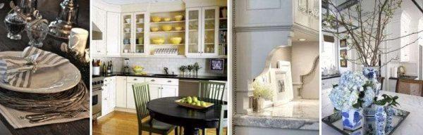 декор в интерьере кухни в классическом стиле