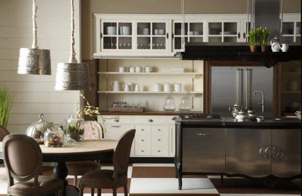 светильники на кухне в классическом стиле
