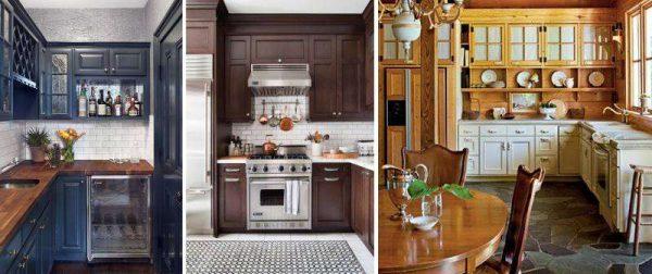примеры угловых кухонь классика