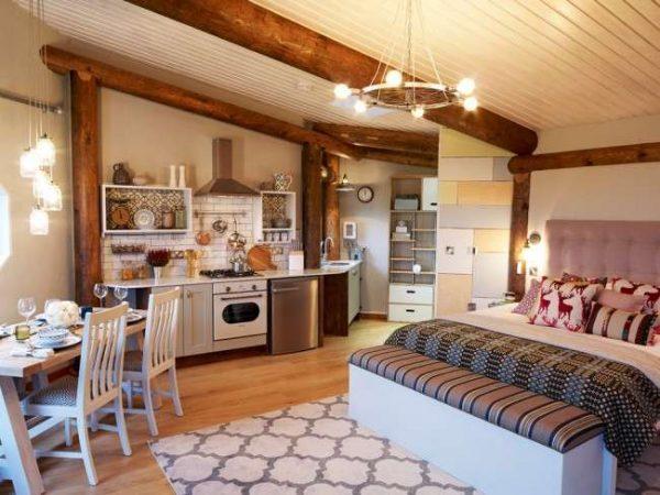 дизайн кухни в однокомнатной квартире