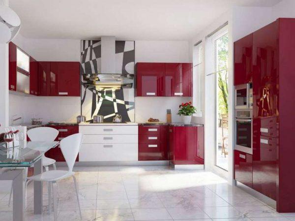 окрашенные стены на кухне в стиле модерн