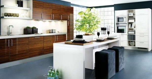 остров белый на кухне в стиле модерн