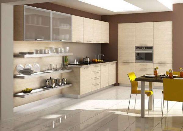 плитка в интерьере кухни в стиле модерн