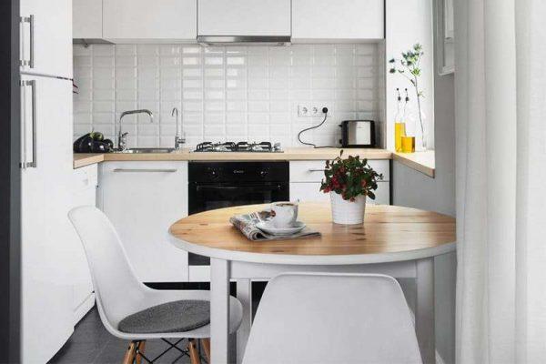 интерьер маленькой кухни в минималистическом стиле