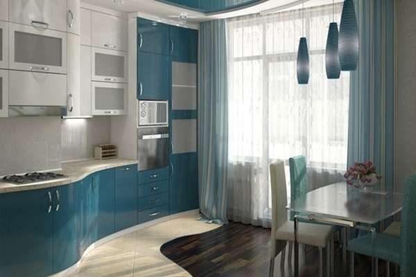 модерн в интерьере маленькой кухни