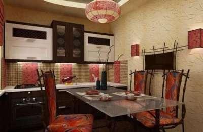 восточный стиль в интерьере маленькой кухни