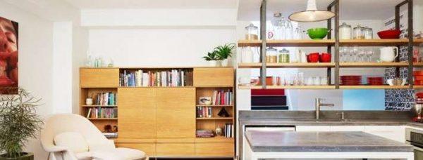 островной стол на кухне гостиной