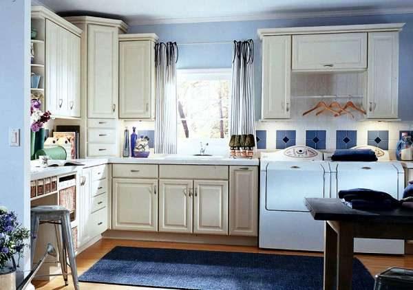 стиральные машины с верхней загрузкой в интерьере кухни